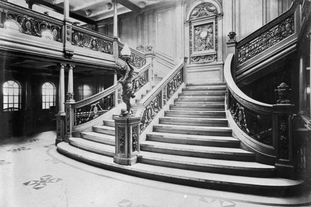 Titanic fascinerande fakta - Schilderij trap ...