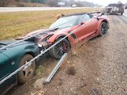 Corvette Z06 smadret