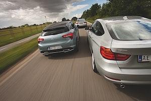 Stortest: BMW 3 GT, Audi A5 Sportback og Citroën DS5