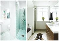 Fire skønne badeværelser