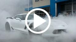 Corvette C7 Z06 laver vild burnout