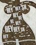 Collage af Hershey chokolade-papir