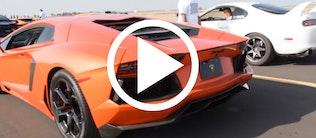 Lamborghini Aventador vs. Toyota Supra