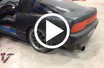 Gammel Nissan 200sx med vild lyd