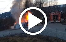 Norske brandfolk med tryk på