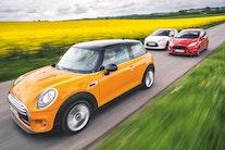 Mini Cooper møder Citroën DS3 og Ford Fiesta ST