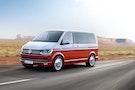 Tofarvet VW Transporter på vej til Danmark