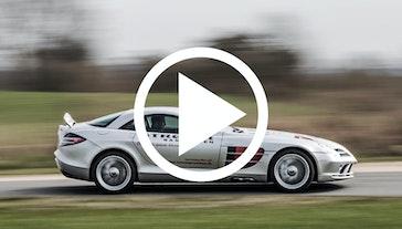 Vi giver den gas i en SLR McLaren
