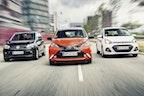 VW Up, Toyota Aygo og Hyundai i10