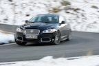Vi tester Jaguar XFR i Alperne