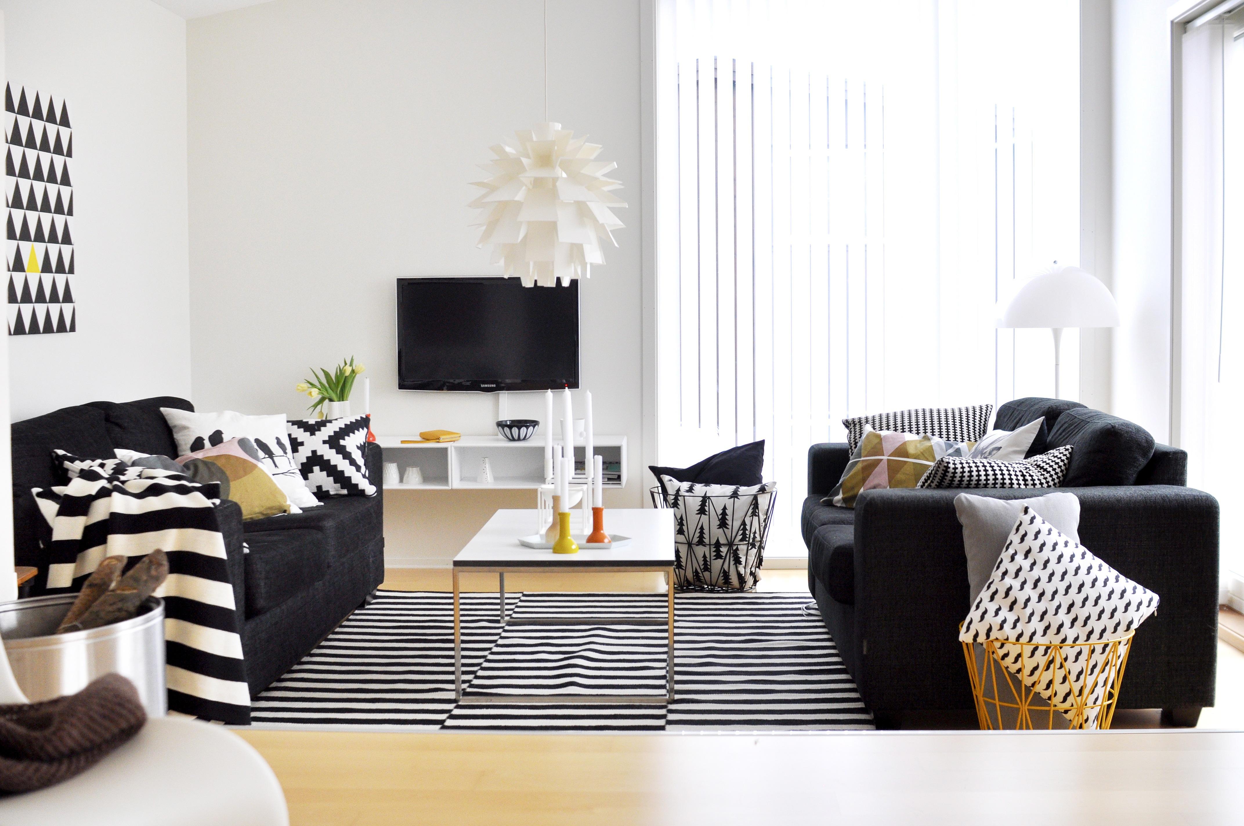 <p></p> <p><strong>Grafisk hjem i svart og hvitt</strong></p>