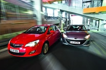 Opel Astra 1,7 CDTI vs. Mazda 3 1,6 DE