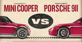 Mini vs. Porsche Rocky-style