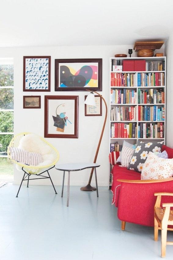 Et hus med moderne funktionalitet og 50'er-nostalgi ...