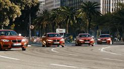 Vild video: 5 BMWer giver den gas i byen