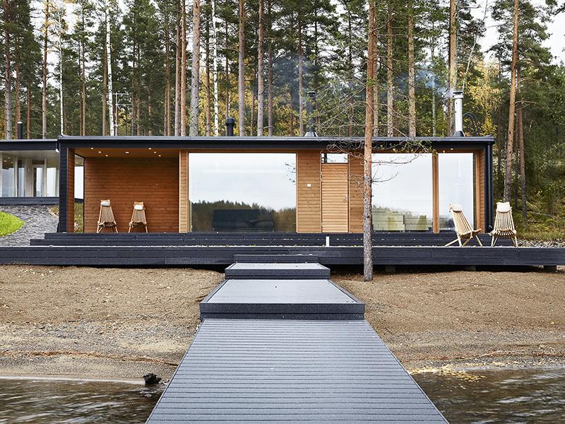 Skandinavisk design i skogen  Bo-bedre.no