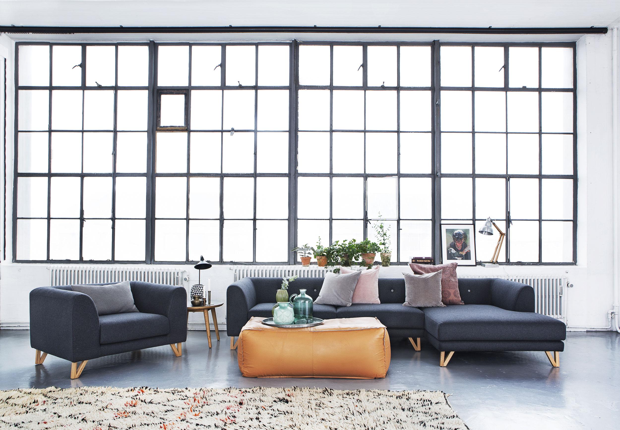 vind dansk designsofa og stol. Black Bedroom Furniture Sets. Home Design Ideas