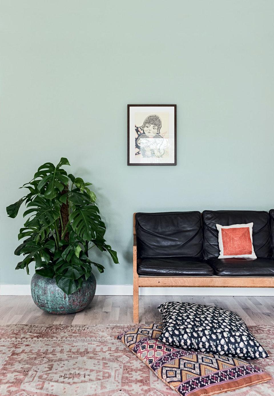 Canapé et tapis vintage