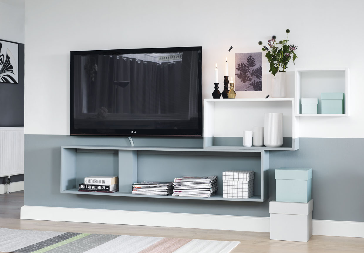 tv m bel s dan f r du styr p ledninger og kabler. Black Bedroom Furniture Sets. Home Design Ideas