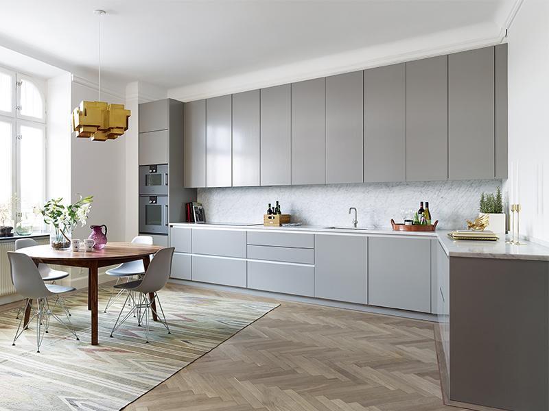 Ikea Veddinge Grey Kitchen