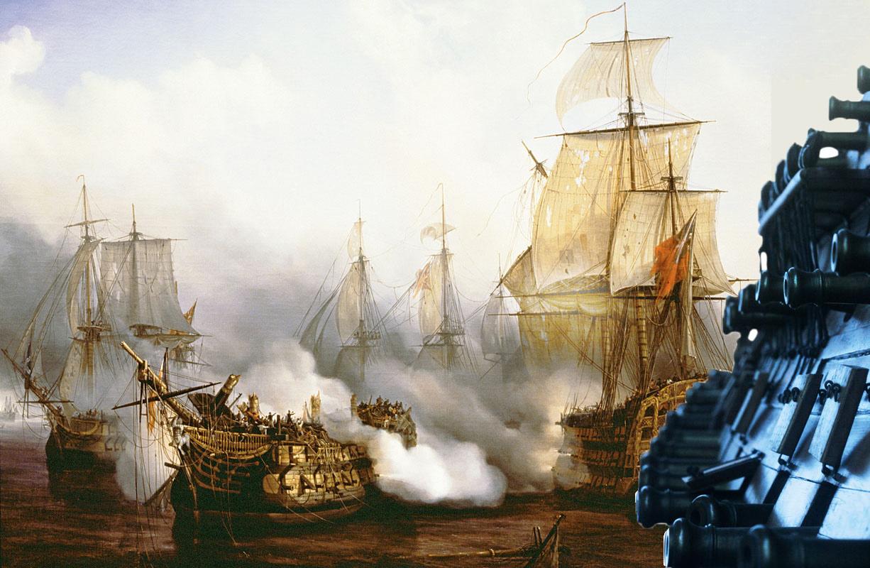 Hvor bred er et krigsskibs bredside? | Historienet.dk